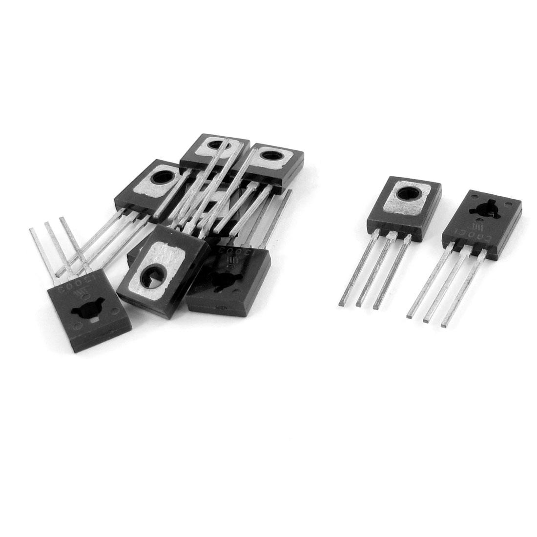 10 Pcs MJE13003 3-terminal 2A Collector Current General Purpose NPN Transistors