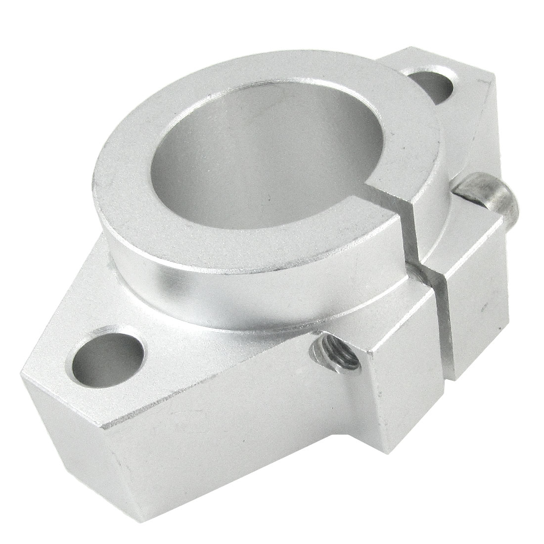 Adjustable 30mm Inner Diameter Shaft Support Aluminum Silver Tone