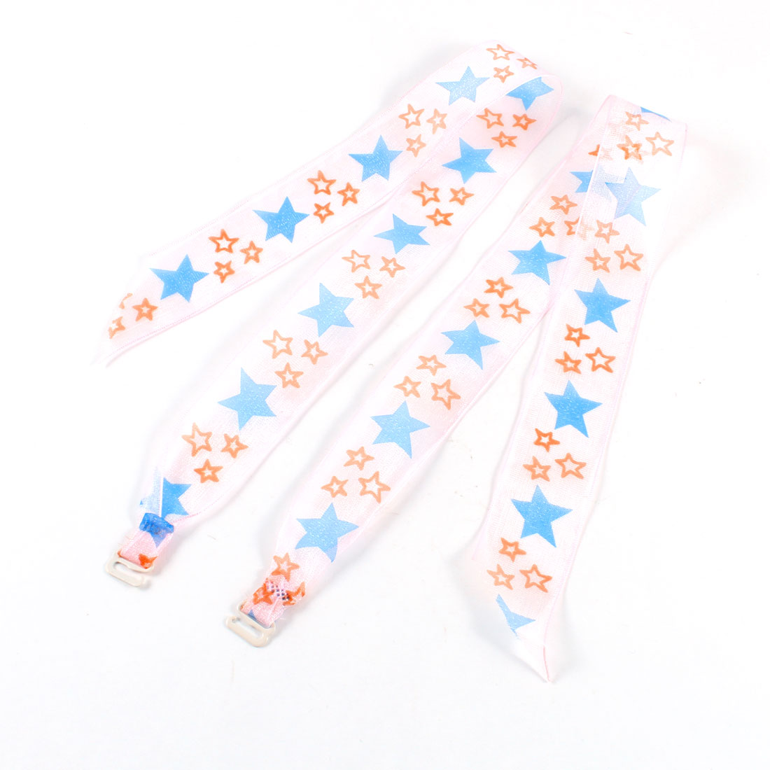 Blue Orange Star Printed Neck Bra Straps Pink for Ladies