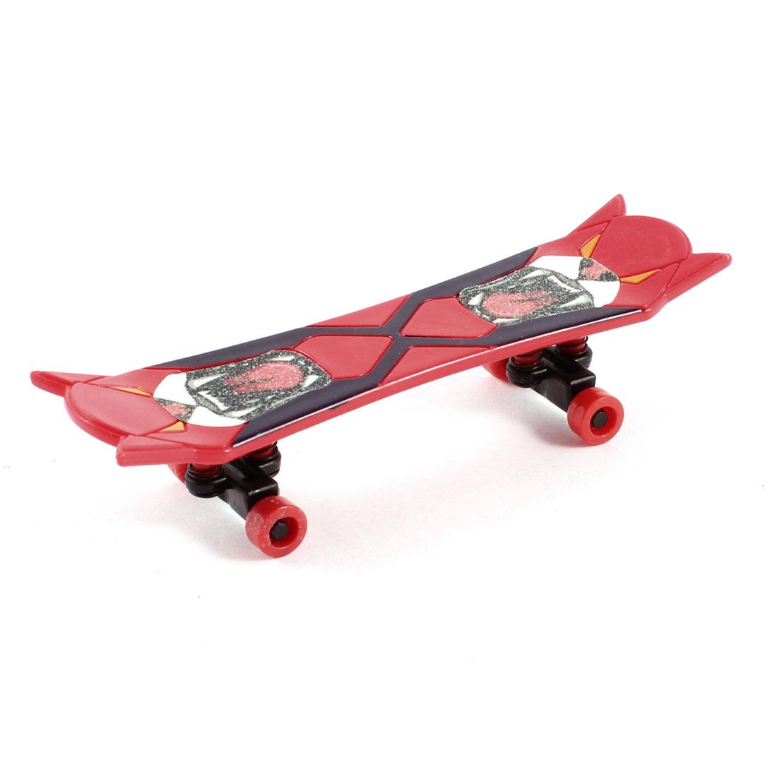 Red Black Plastic Novelty Printed Mini Finger Skateboard Toy for Child