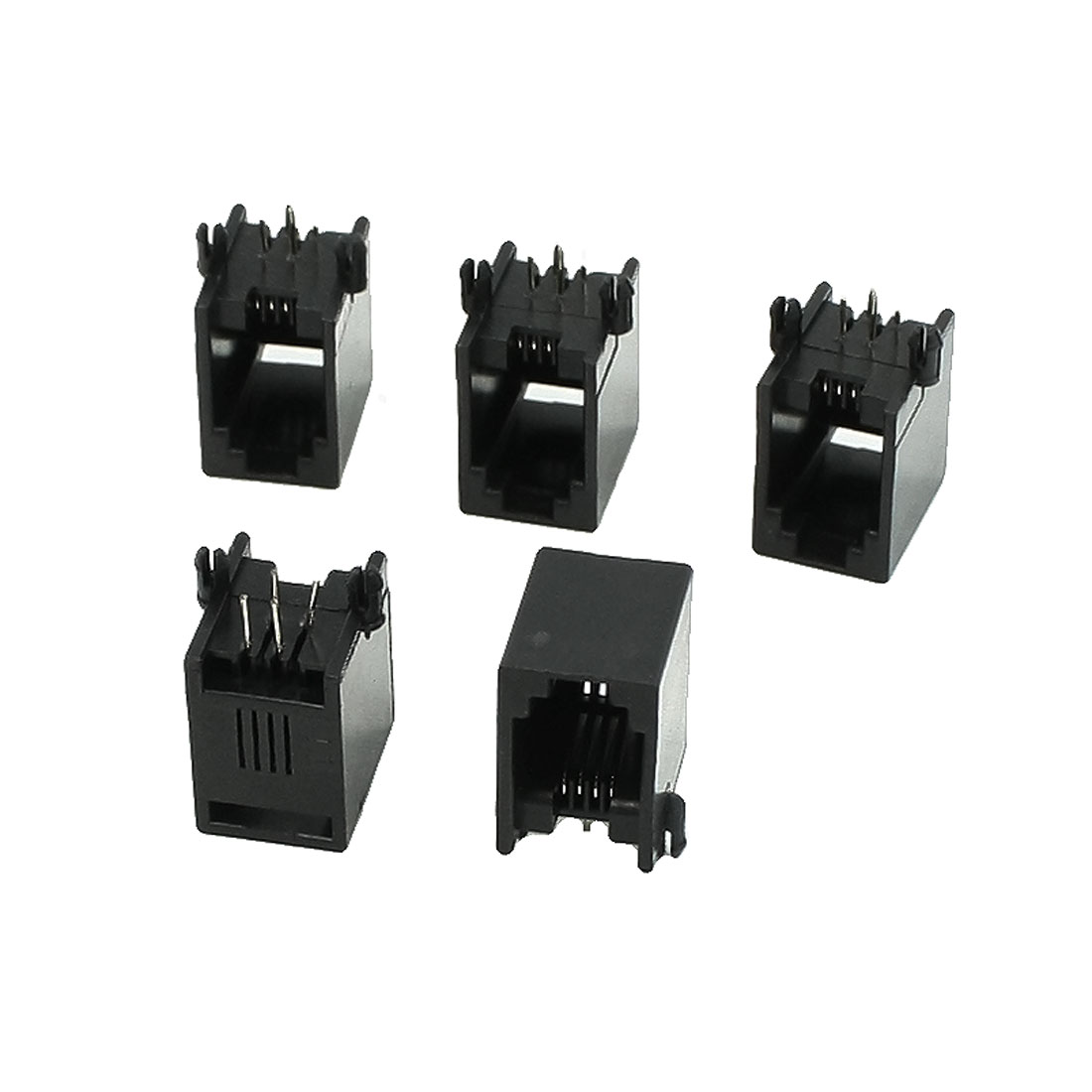 5 Pcs RJ9 RJ10 RJ22 4P4C Handset Sockets Jacks 13 x 9.5 x 14mm