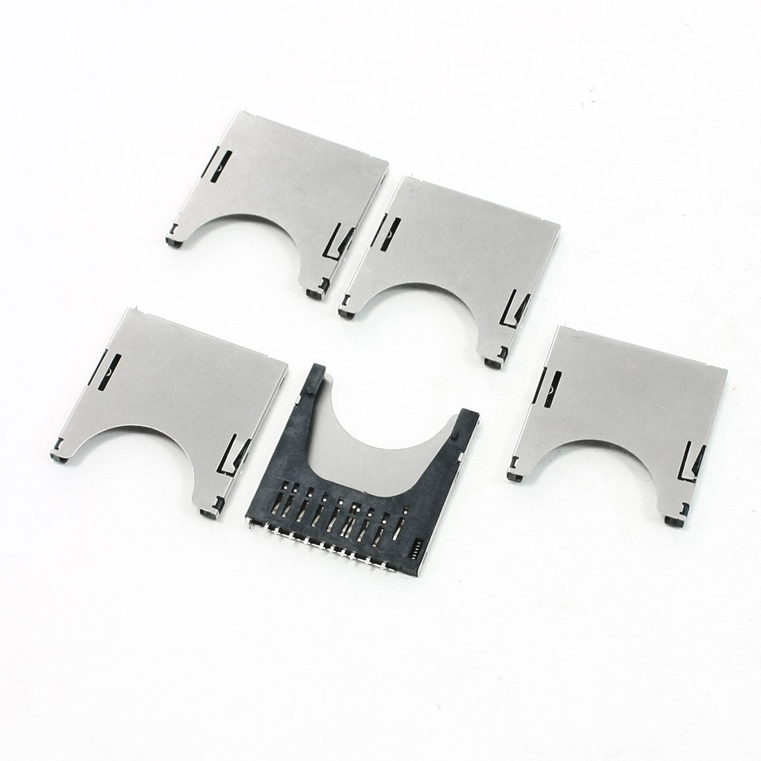 5 Pcs Push-in Push-Out Type SD Memory Card Sockets