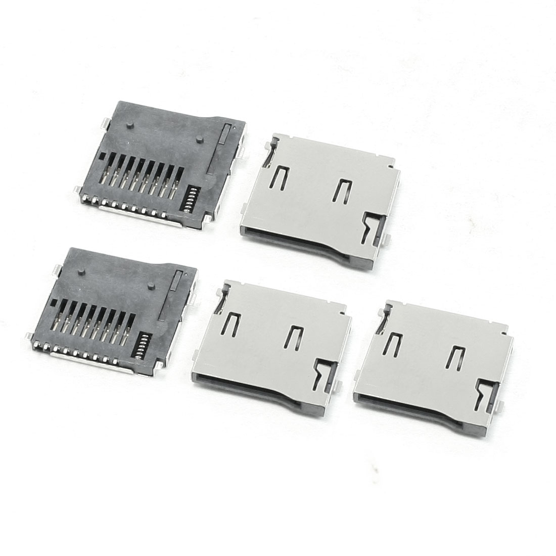 PCB Mount Push-in Push-out Type TF Micro SD Card Sockets 5 Pcs for Cell Phone