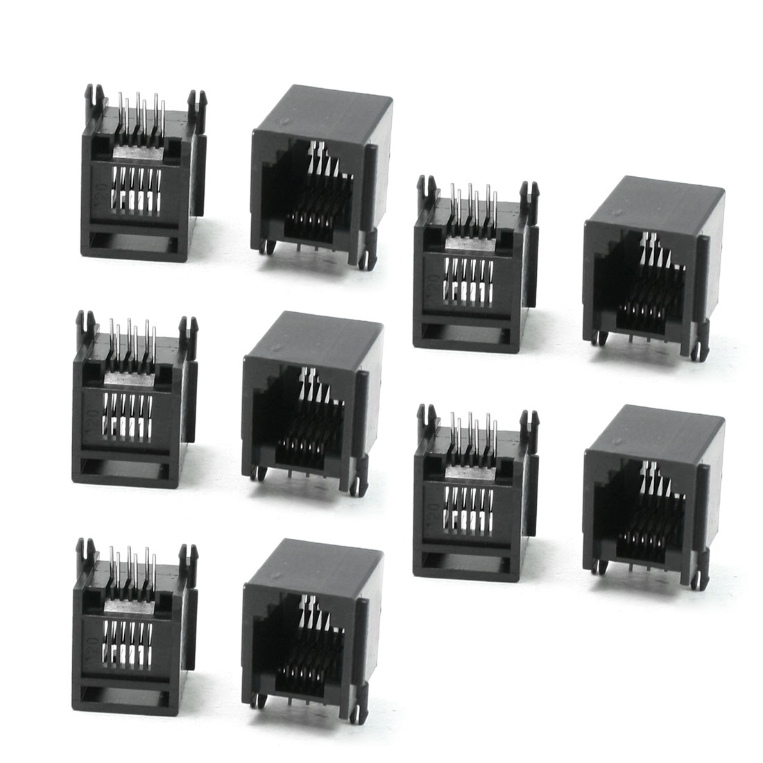 10 Pcs RJ12 6P6C Side Entry Network Jacks Connectors 15 x 12 x 14mm