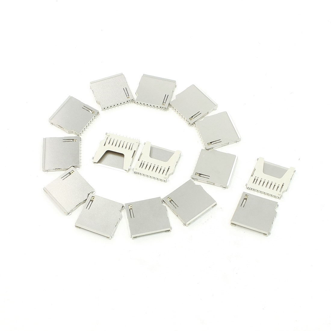15Pcs SMT Mounting Pull-Out Type SD Memory Card Sockets 26mm x 26mm