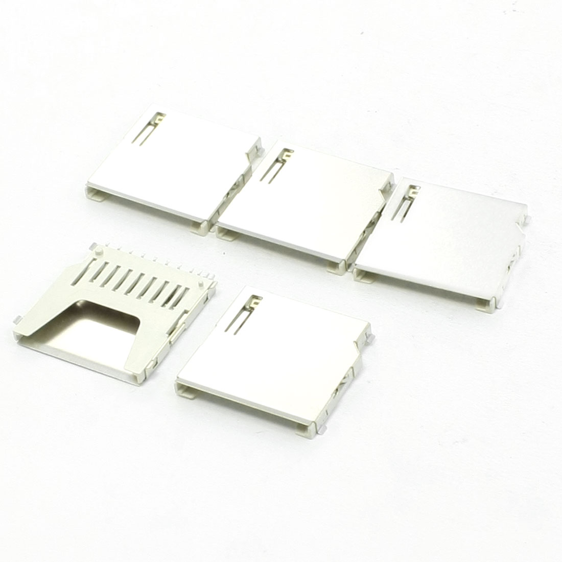 "5 Pcs SD Memory Card Sockets 1"" x 1"" x 0.1"" for Digital Camera"