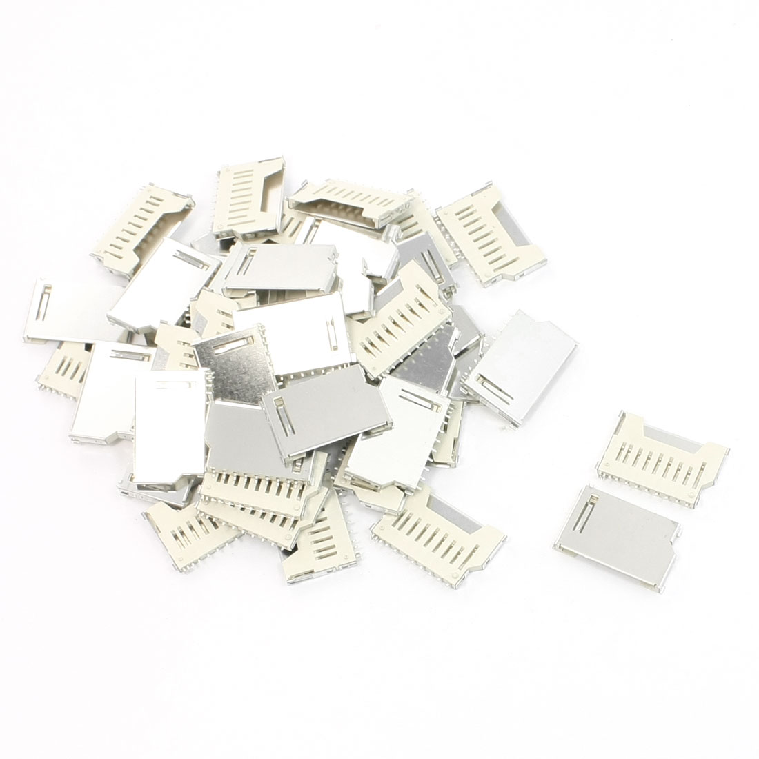 50 Pcs SD Memory Card Sockets Connectors Replacements 16mm x 26mm