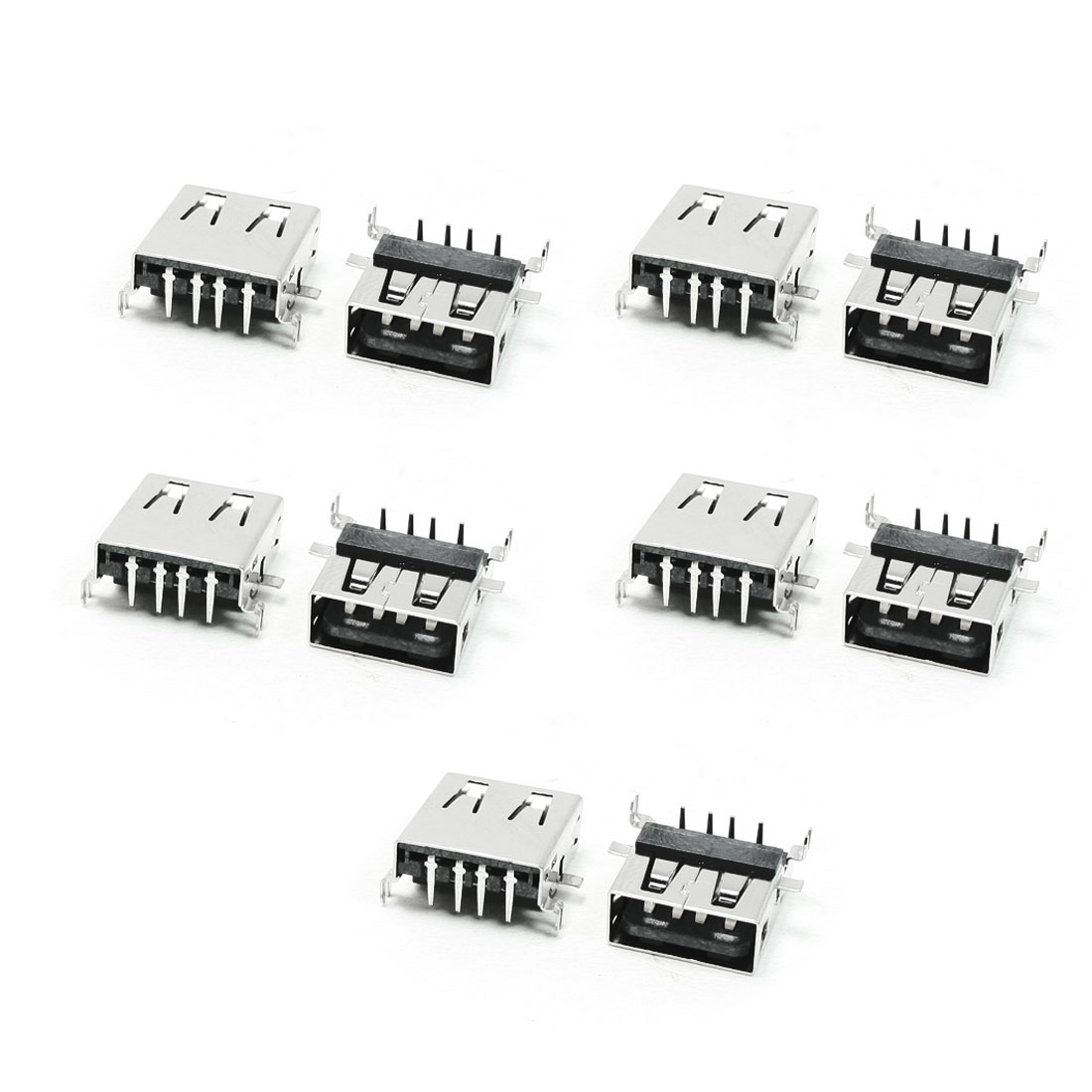 Type A USB 2.0 4 Pin Female Jack Connector Port Replacement 10 Pcs