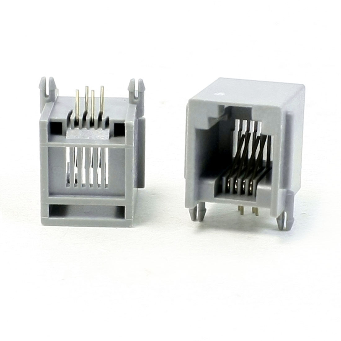 Right Angle Pin RJ11 RJ13 RJ14 6P4C Modular Network Jack 15mm Length 20Pcs