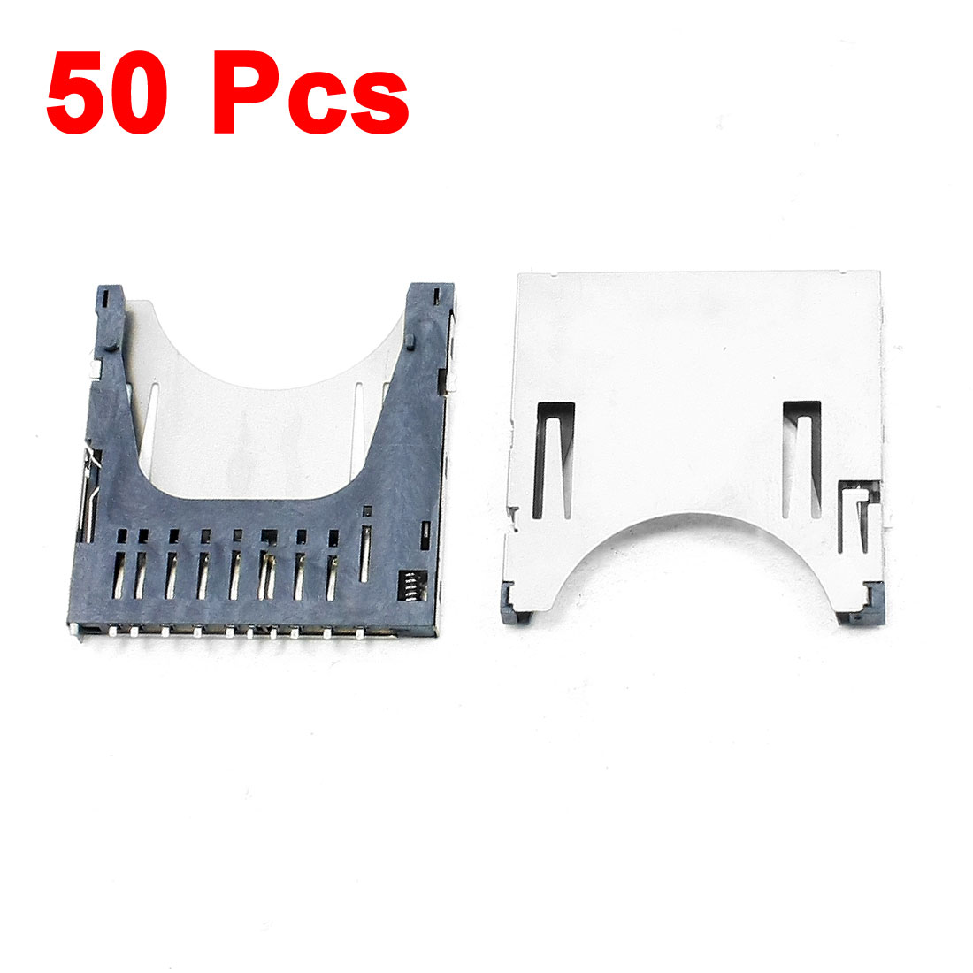 50Pcs SD Card Sockets Connectors Replacements 29 x 28.5 x 2.5mm