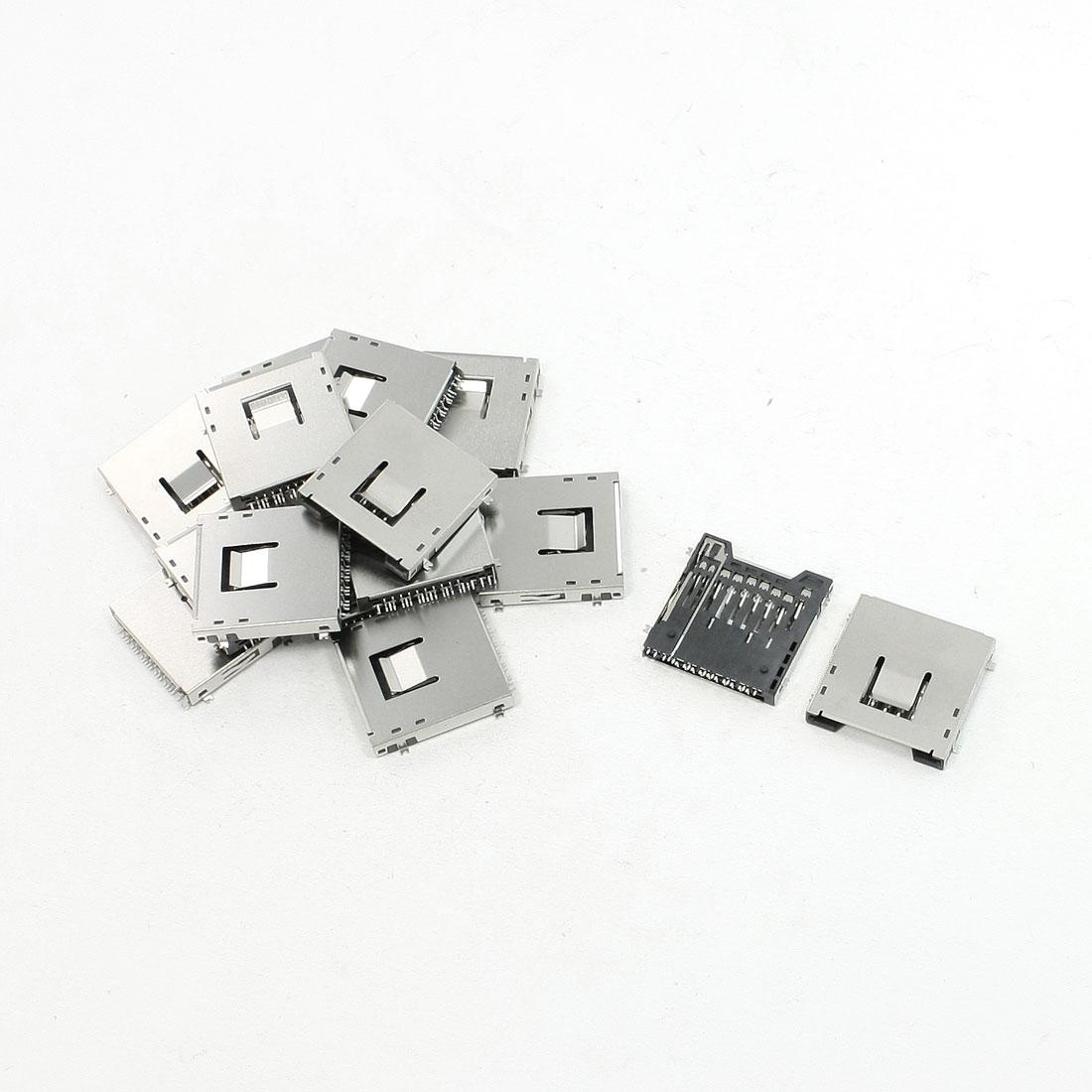 "15Pcs Push-Out Type SD Memory Card Sockets Slots 1"" x 1"" x 0.1"""