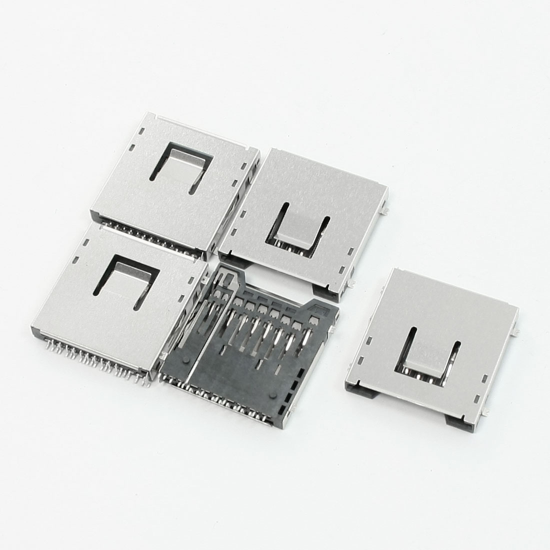 PCB Surface Mount Quick Flip SD Card Sockets 2.5mm Thick 5 Pcs