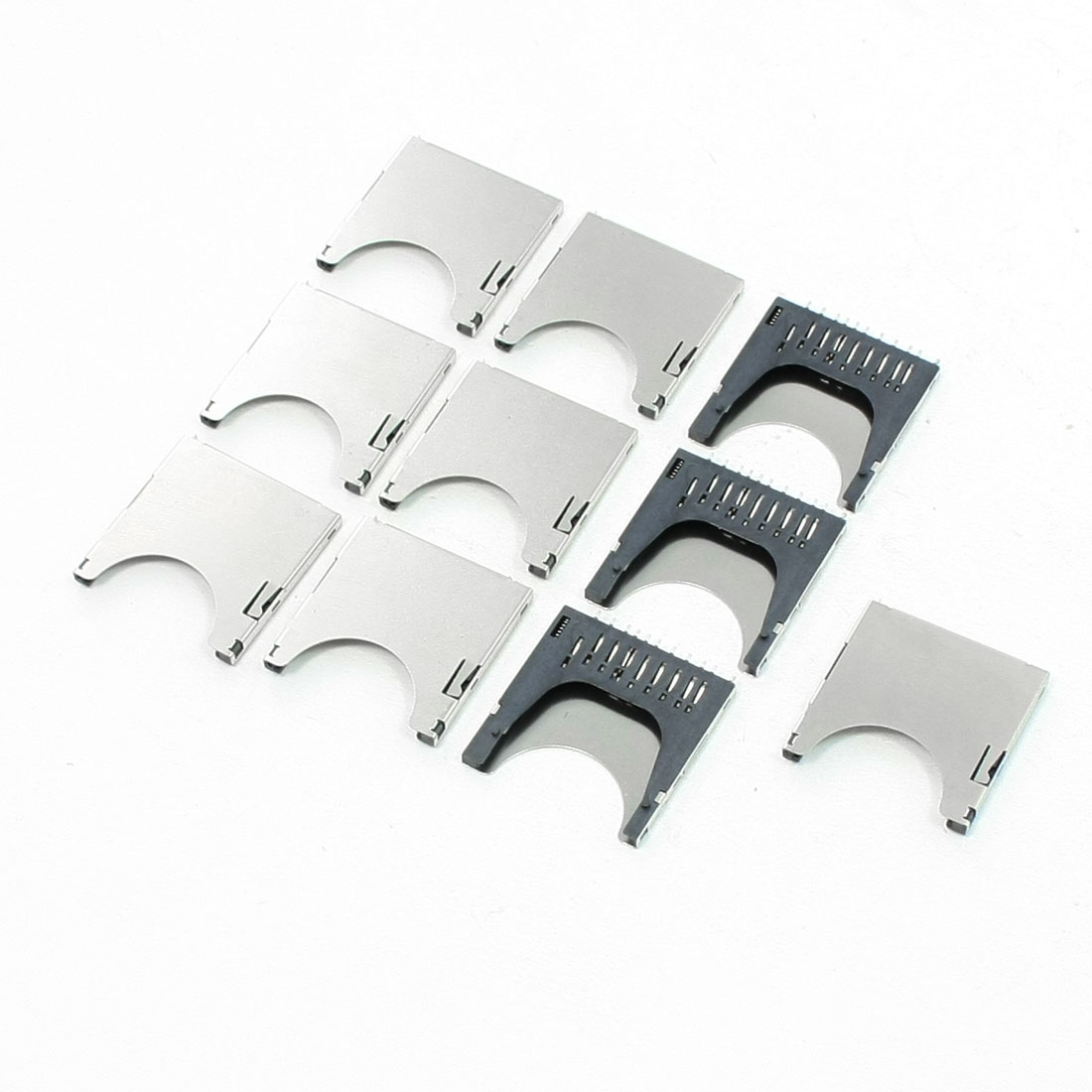 10 Pcs 29mm Long Spring Loaded SD Memory Card Sockets Slots