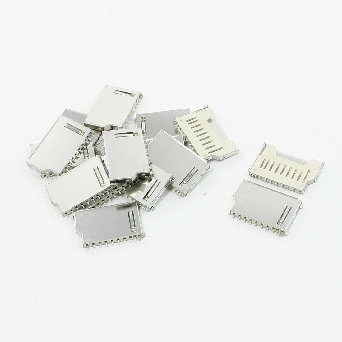 15Pcs SD Card Sockets Connectors Repairing Parts 16mm x 26mm