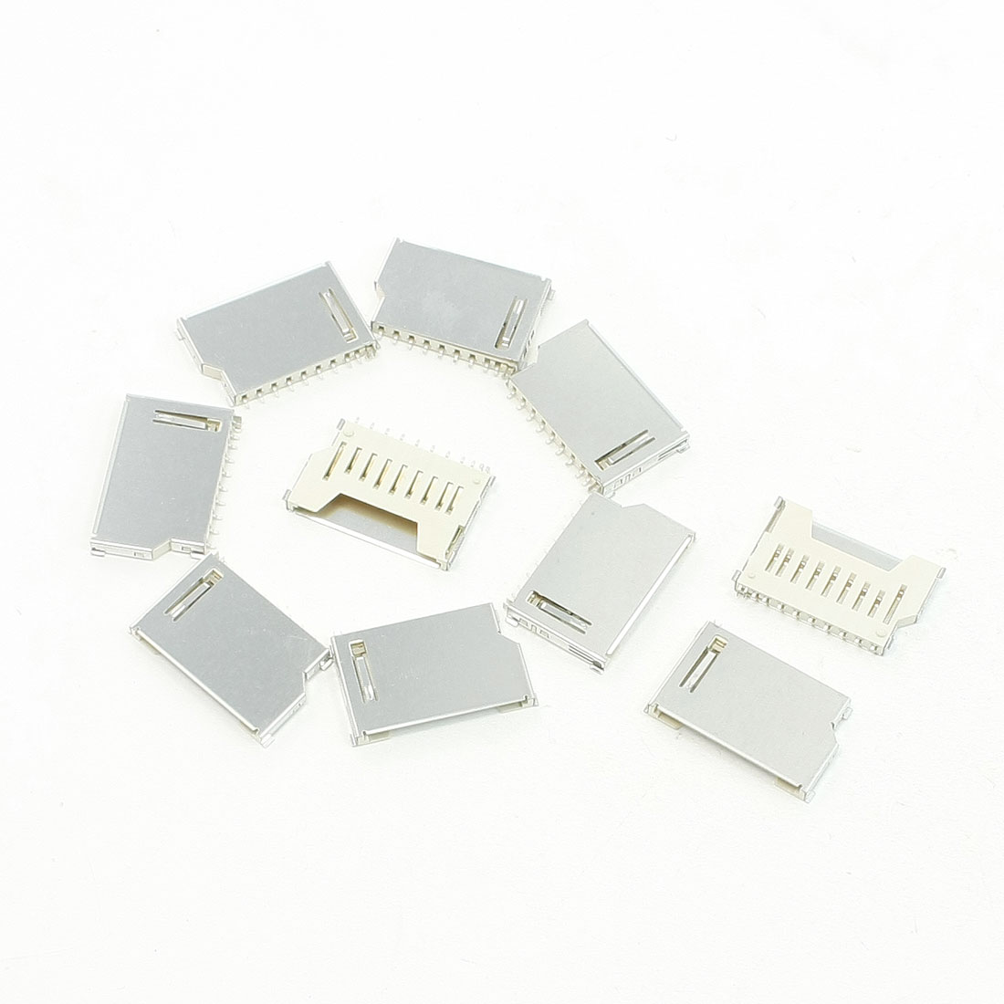 10 Pcs SD Card Sockets Connectors Replacements 16 x 26 x 2.5mm
