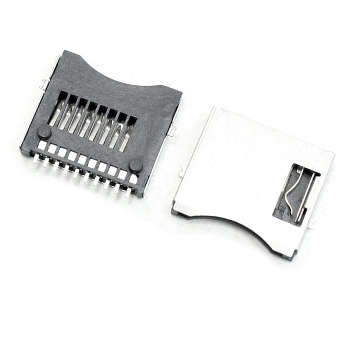 20 Pcs Micro SD TF Memory Card Sockets Connectors Slots DIY Repair Parts
