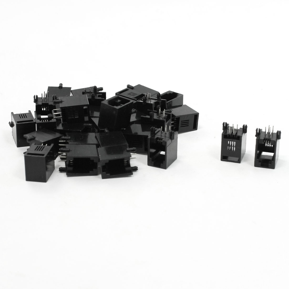 30 Pcs RJ9 RJ10 RJ22 4P4C PCB Jacks Female Connectors for Handset Coiled Cor