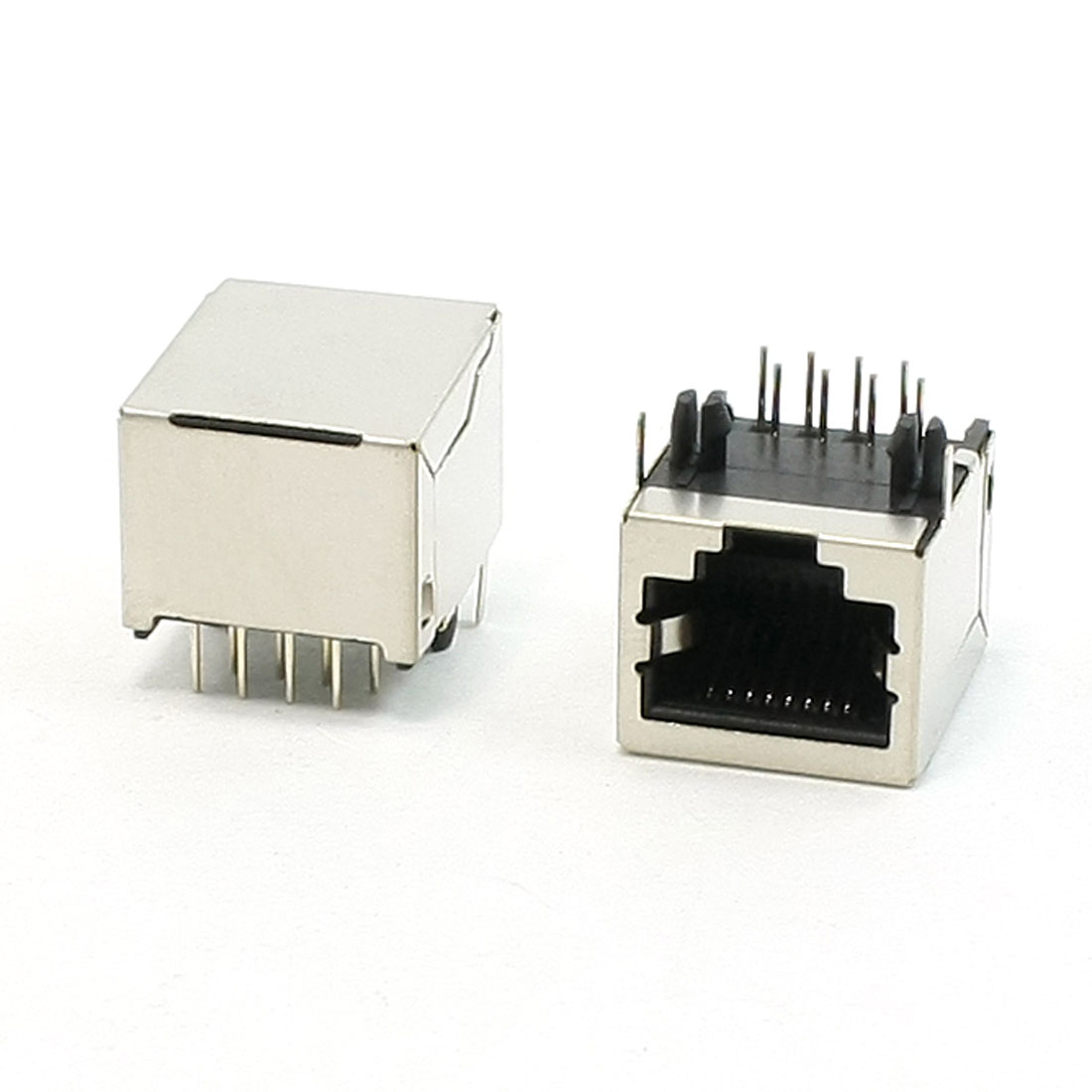 2 Pcs 8Pin RJ45 Network Jack Female Connector 18 x 15.5 x 12mm