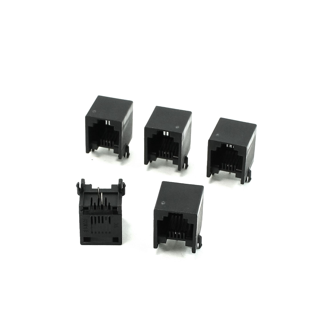 5 Pcs RJ11 6P2C Jack Telephone Line Socket 13 x 12 x 14mm