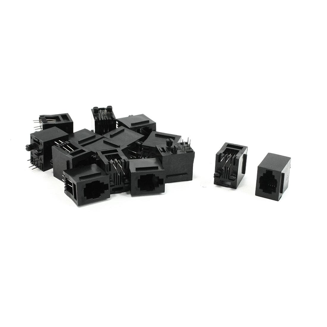 PCB Vertical Mounting RJ9 RJ10 RJ22 4P4C Telephone Handset Jacks Sockets 15 Pcs