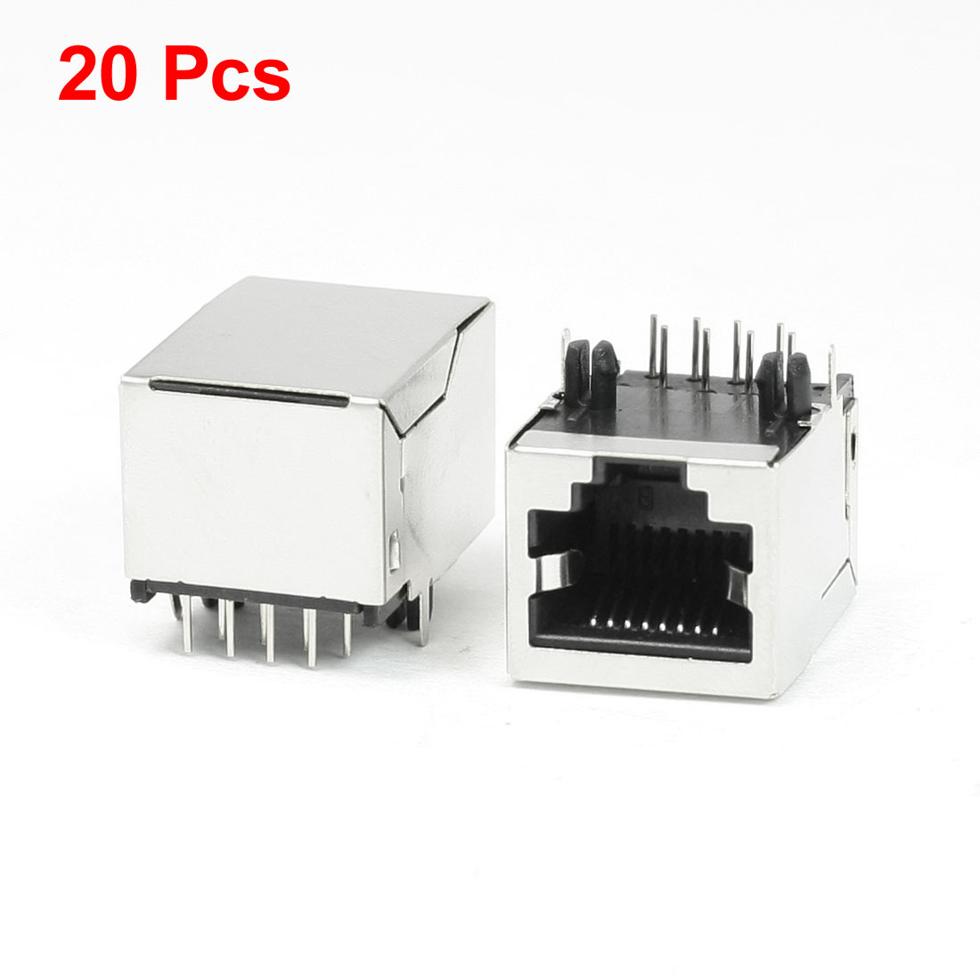 20Pcs RJ45 PCB Jack Network Connector 8 Right Angle Pins 20 x 15.5 x 14mm