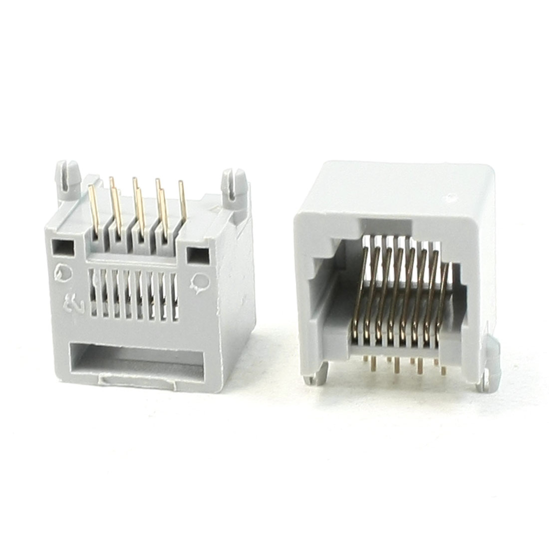 Right Angle Pins RJ45 8P8C PCB Jacks Sockets 13x15x14.5mm 20Pcs for Ethernet