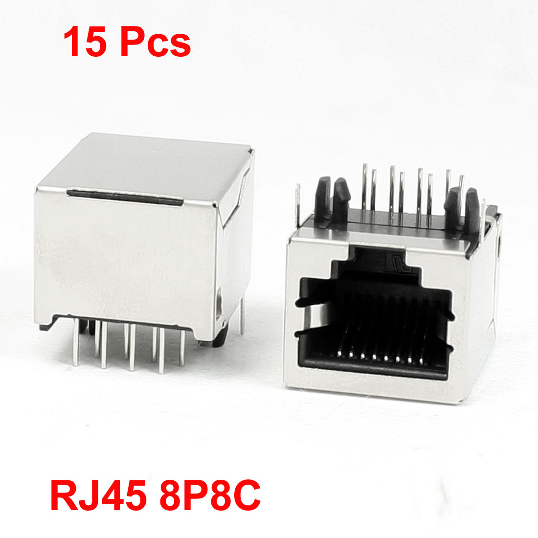 15Pcs 8 Pin RJ45 Jack Sockets 18 x 15.5 x 12mm for Ethernet Network