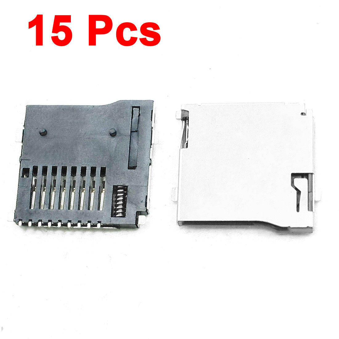 15 Pcs Automatic Push/Push Type TF Micro SD Card Sockets Slots