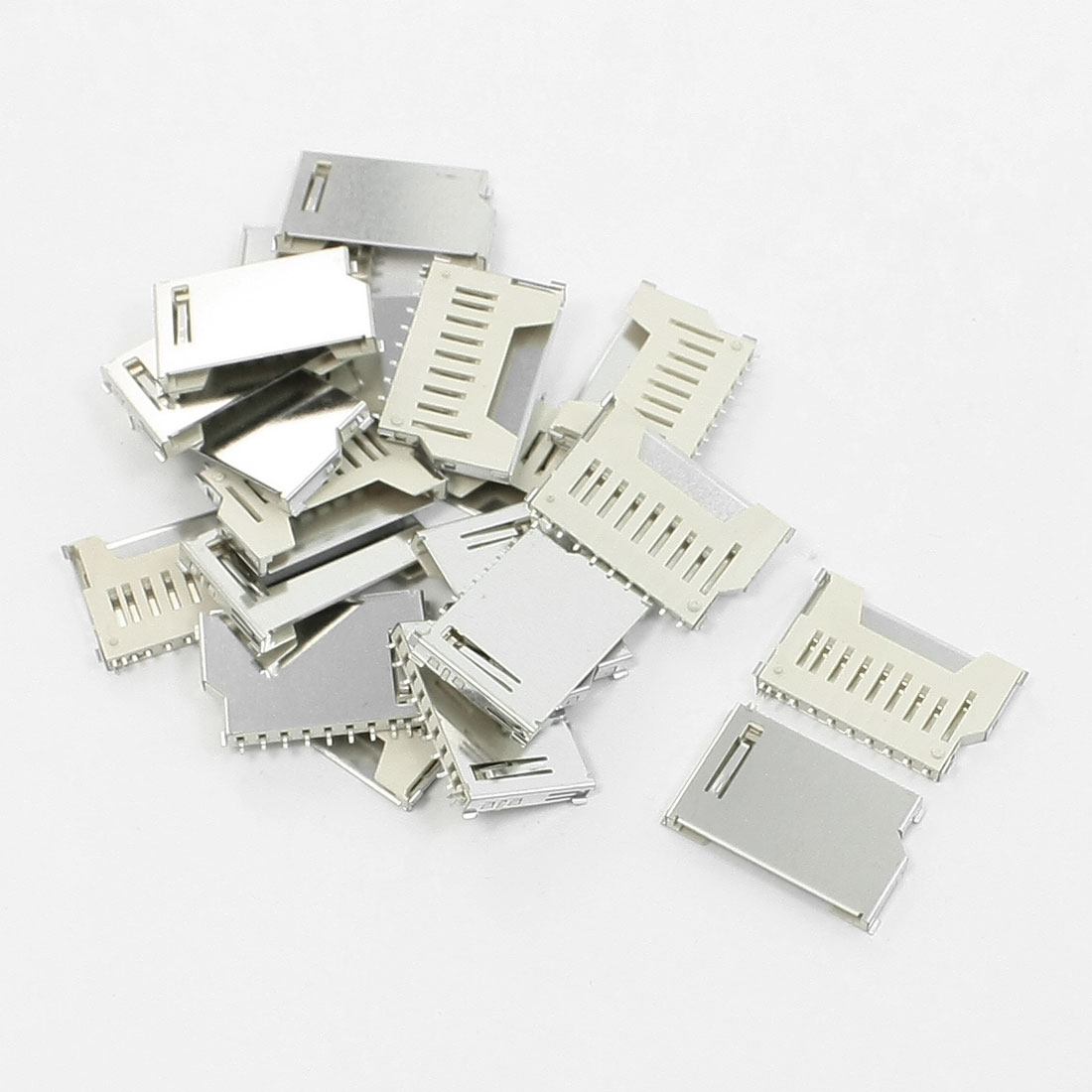 20Pcs SD Card Sockets Connectors DIY Replacement Parts 16mm x 26mm