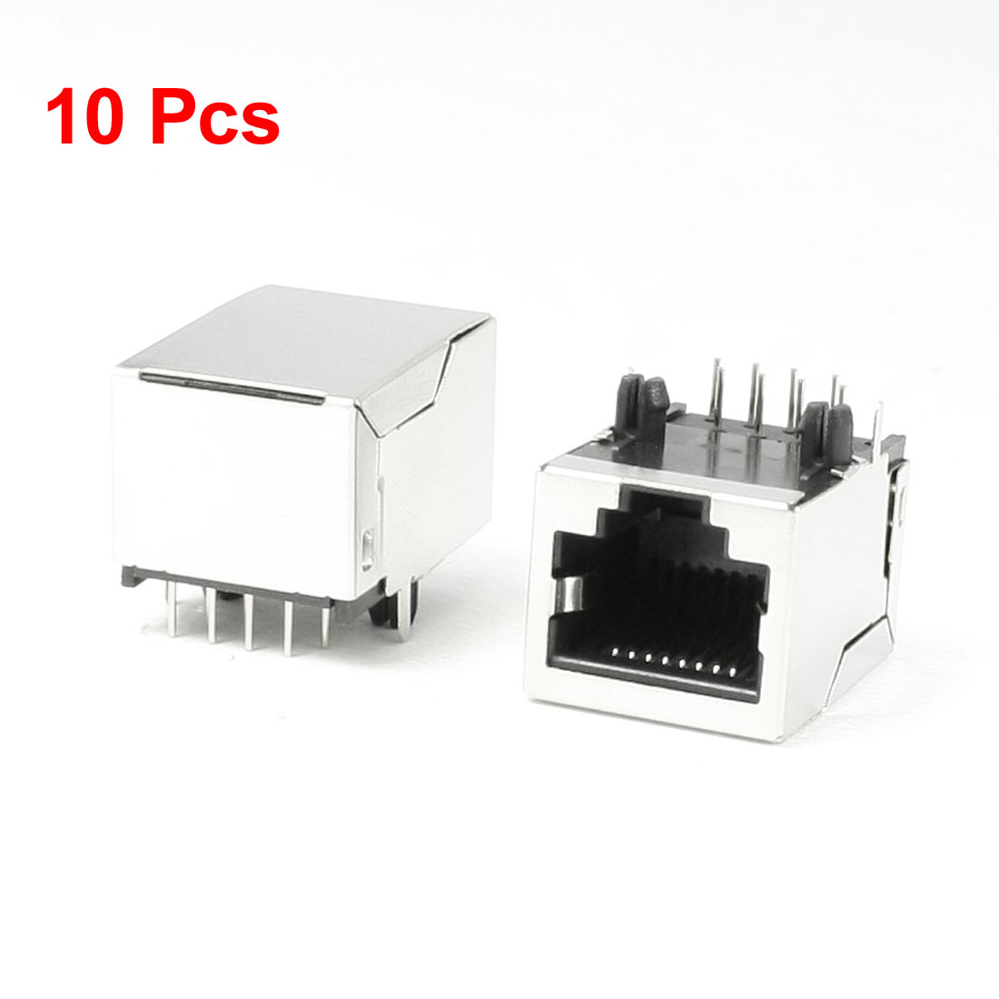 Right Angle Pins 8P8C RJ45 Modular Jack Female Network Connector 10Pcs