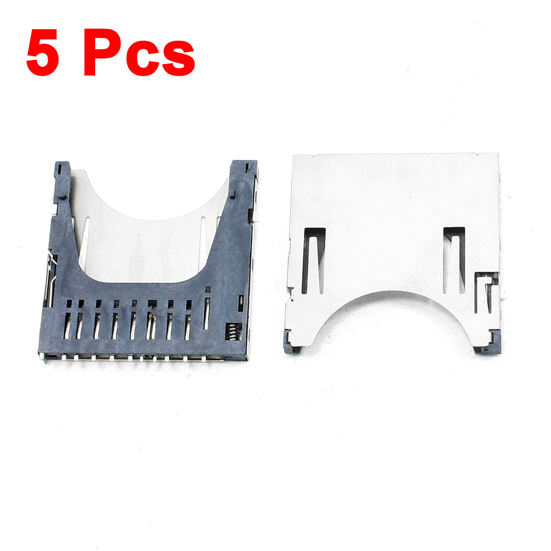 5 Pcs SD Memory Card Sockets Connectors Replacements 29 x 28.5 x 2.5mm