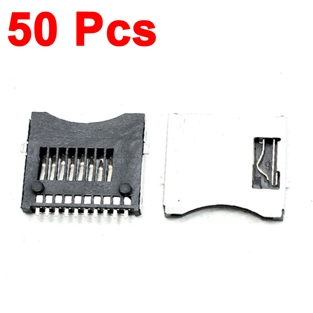SMT Surface Mount Pull-Out Type Micro SD Card Sockets Replacements 50 Pcs