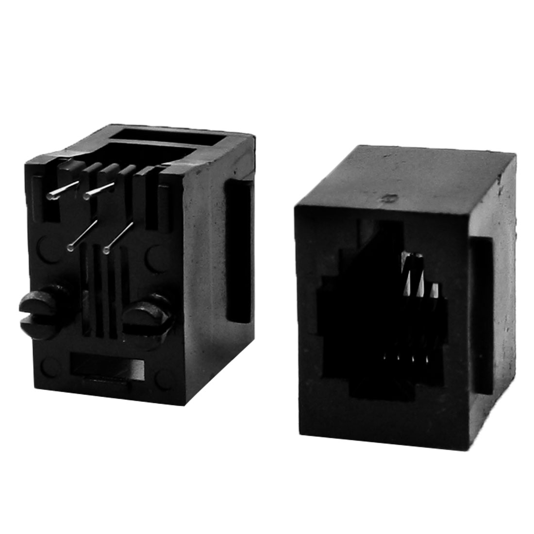 20Pcs RJ9 RJ10 RJ22 4P4C Handset Wire Socket Vert PCB Jack 15 x 11 x 15mm