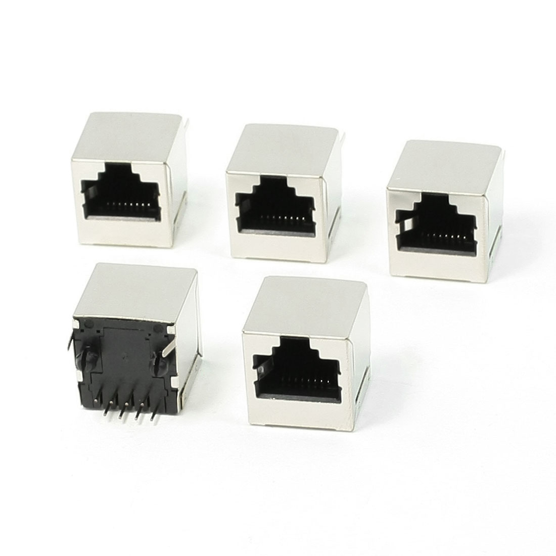 5 Pcs 8 Pin RJ45 Jack Vertical Port 16 x 15.5 x 16mm for Ethernet