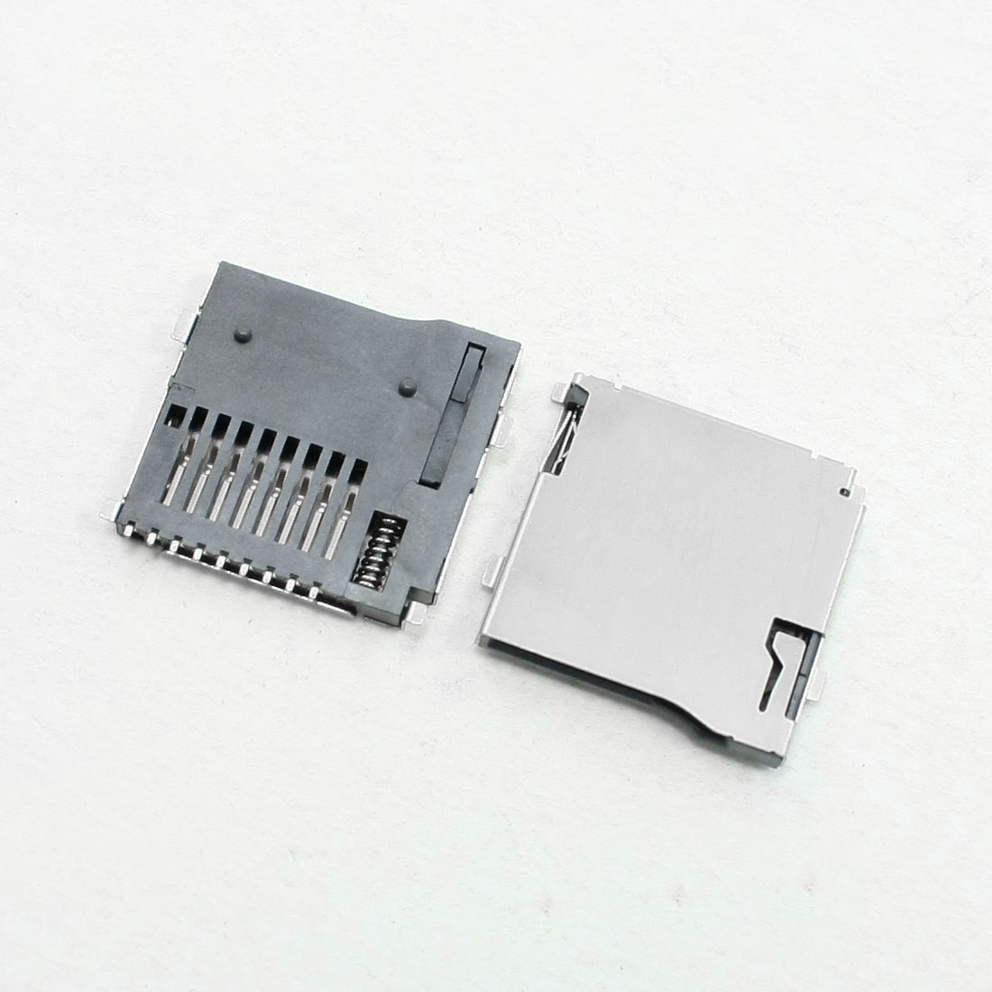Stainless Steel Automatic Push-Push Type TF Micro SD Card Socket 10 Pcs