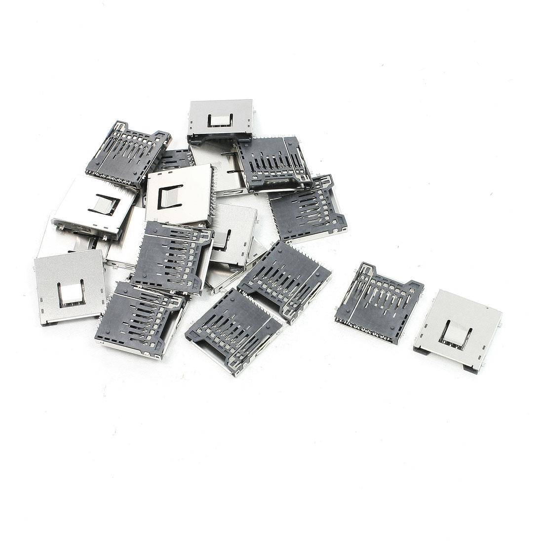 """20 Pcs SD Memory Card Sockets 1"""" x 1"""" x 0.1"""" for Camera MP4"""