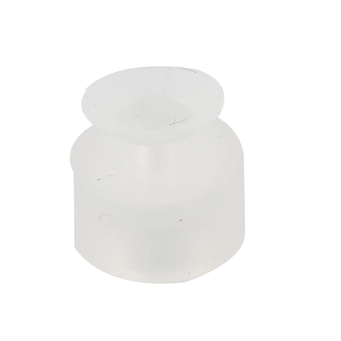 8mm Outside Dia Silicone Oil Resistance Vacuum Suction Cup Sucker Clear White