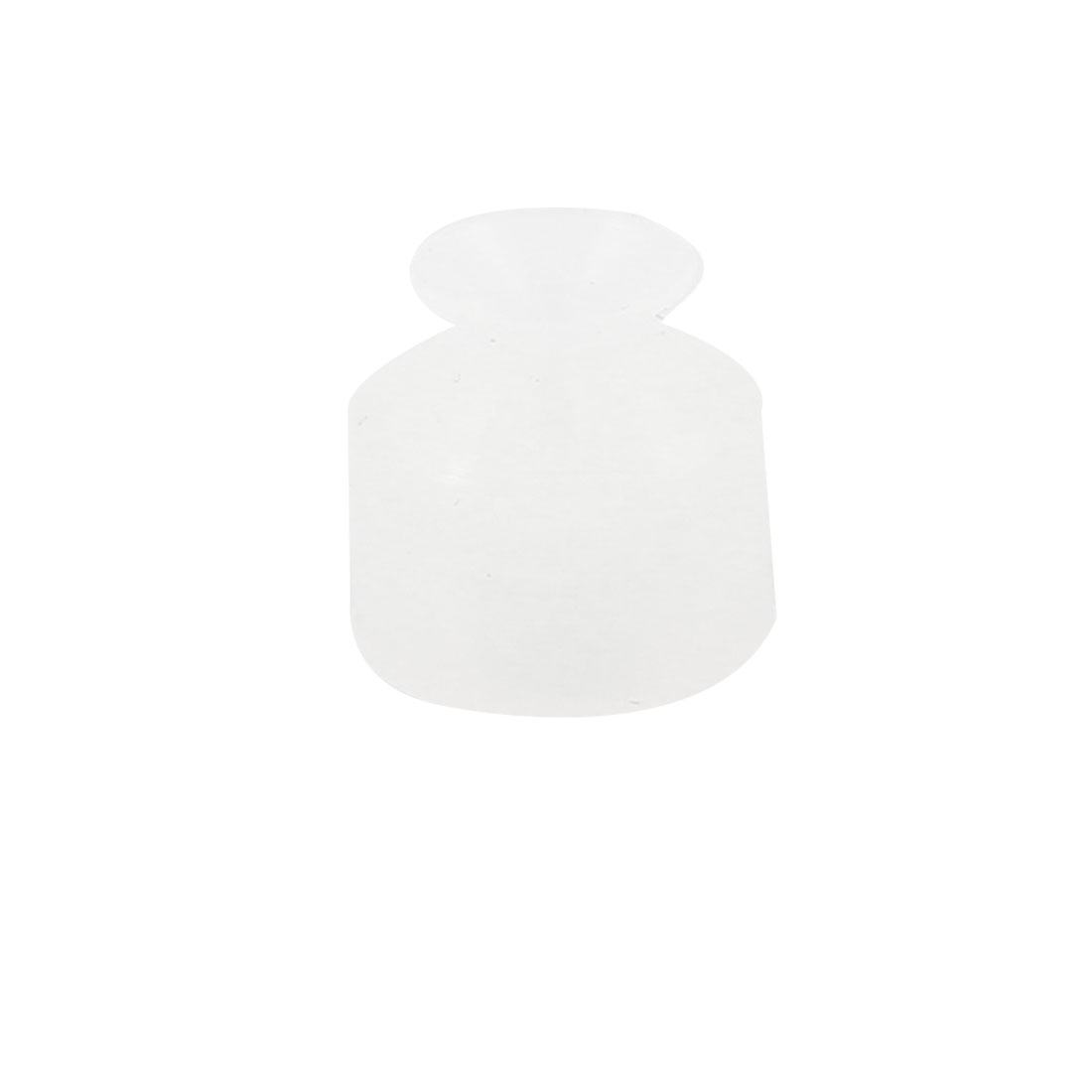 6mm Outside Dia Silicone Oil Resistance Vacuum Suction Cup Sucker Clear White