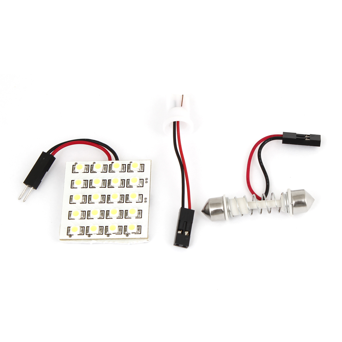White 20 LED 1210 SMD Dome Light Panle w T10 Festoon Adapter for Car