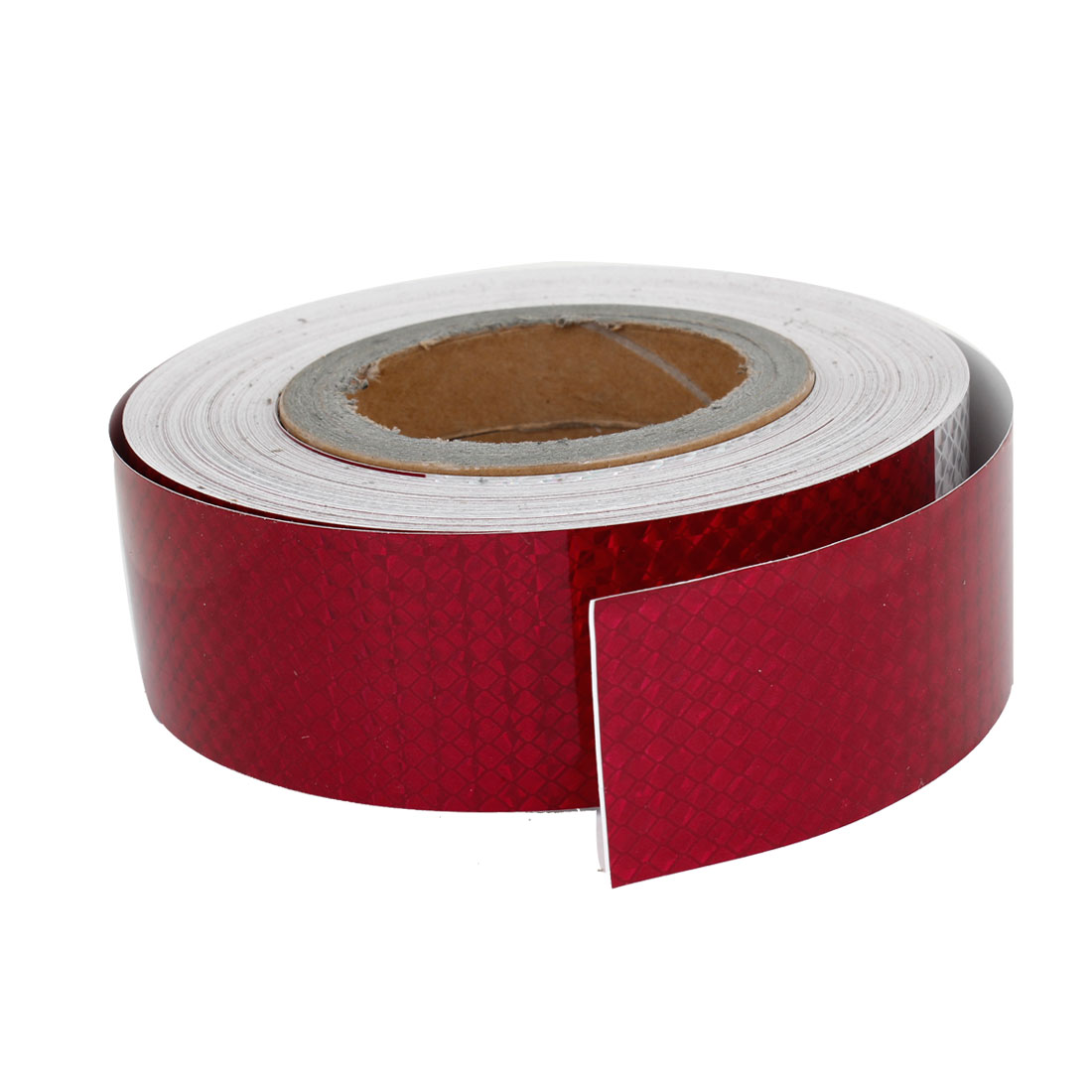 Adhesive Back Red Silver Tone Safety Reflective Sticker 164Ft for Car