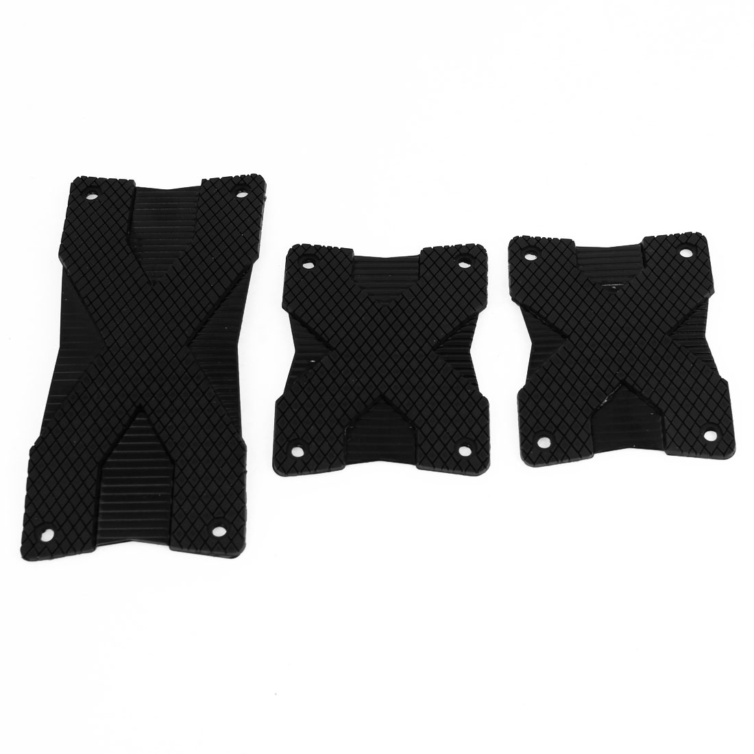 Car Black X Pattern Metal Foot Pedals Pad Covers Manual Transmission