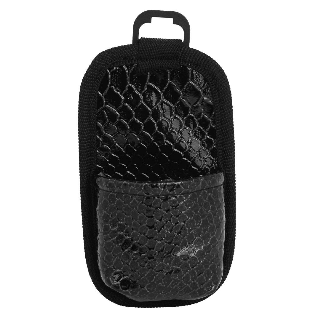 Black Faux Leather Coated Crocodile Pattern Key Phone Storage Bag for Car