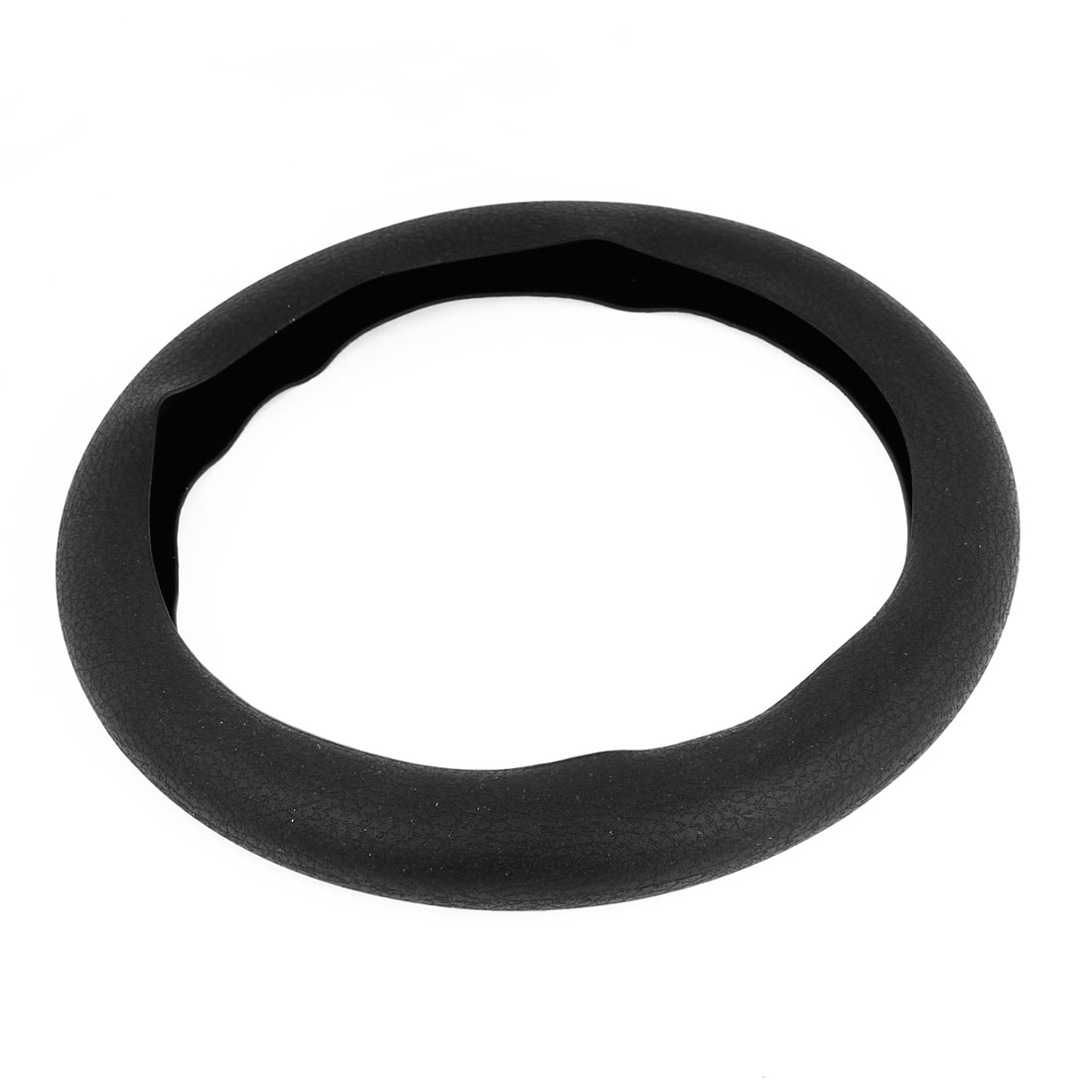 33cm Dia Antislip Black Silicone Steering Wheel Cover Protector for Car