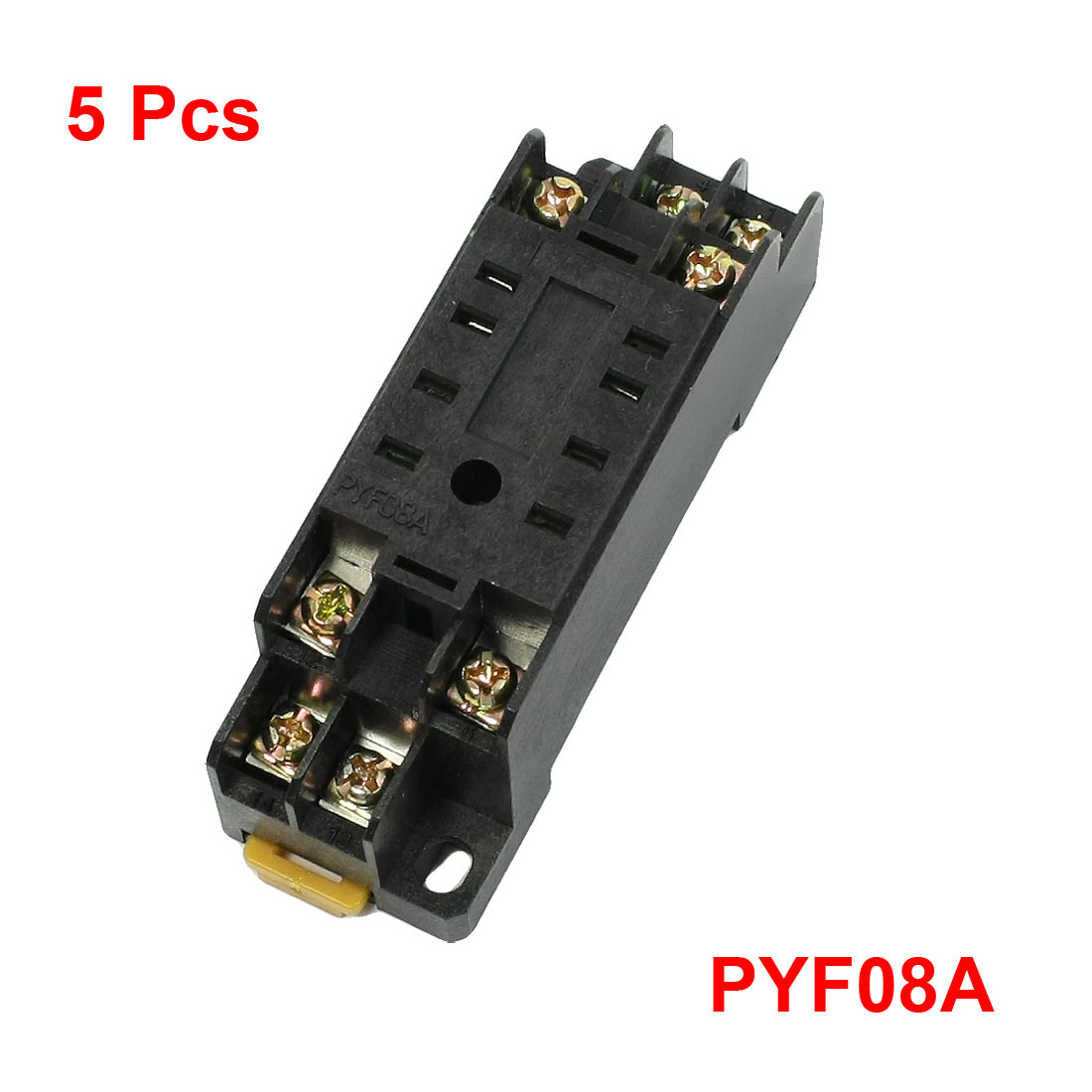 5pcs 8 Pin Plug 3mm Din Rail Power Relay Socket Base Holder PYF08A for HH52P