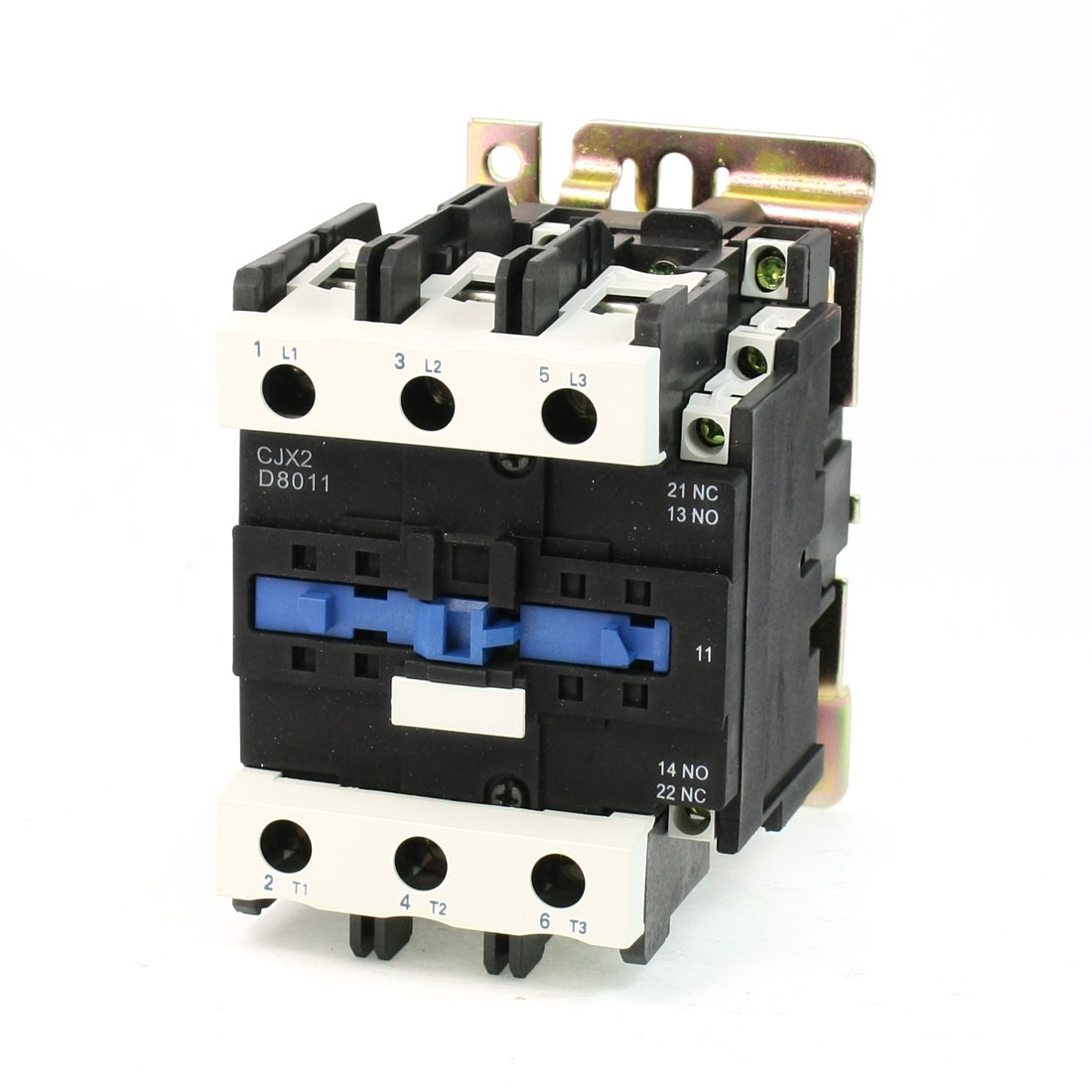 CJX2-8011 DIN Rail Mount AC Contactor 3 Pole One NO 110V Coil 125A