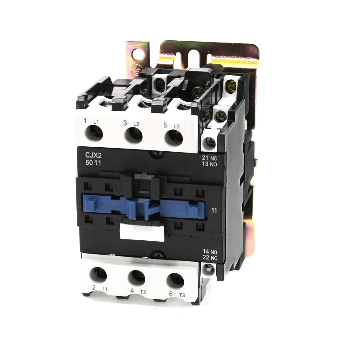 24V 50/60Hz Coil 3 Phase DIN Rail Mounting CJX2-5011 Type 1NO+1NC AC Contactor