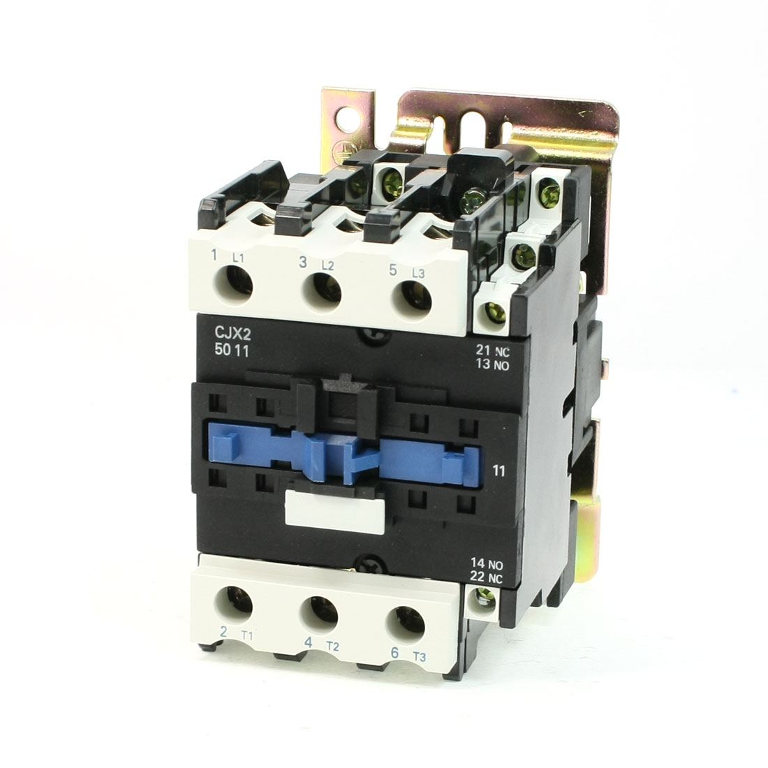 CJX2-5011 DIN Rail Mount AC Contactor 3 Pole One NO 110V Coil 80A