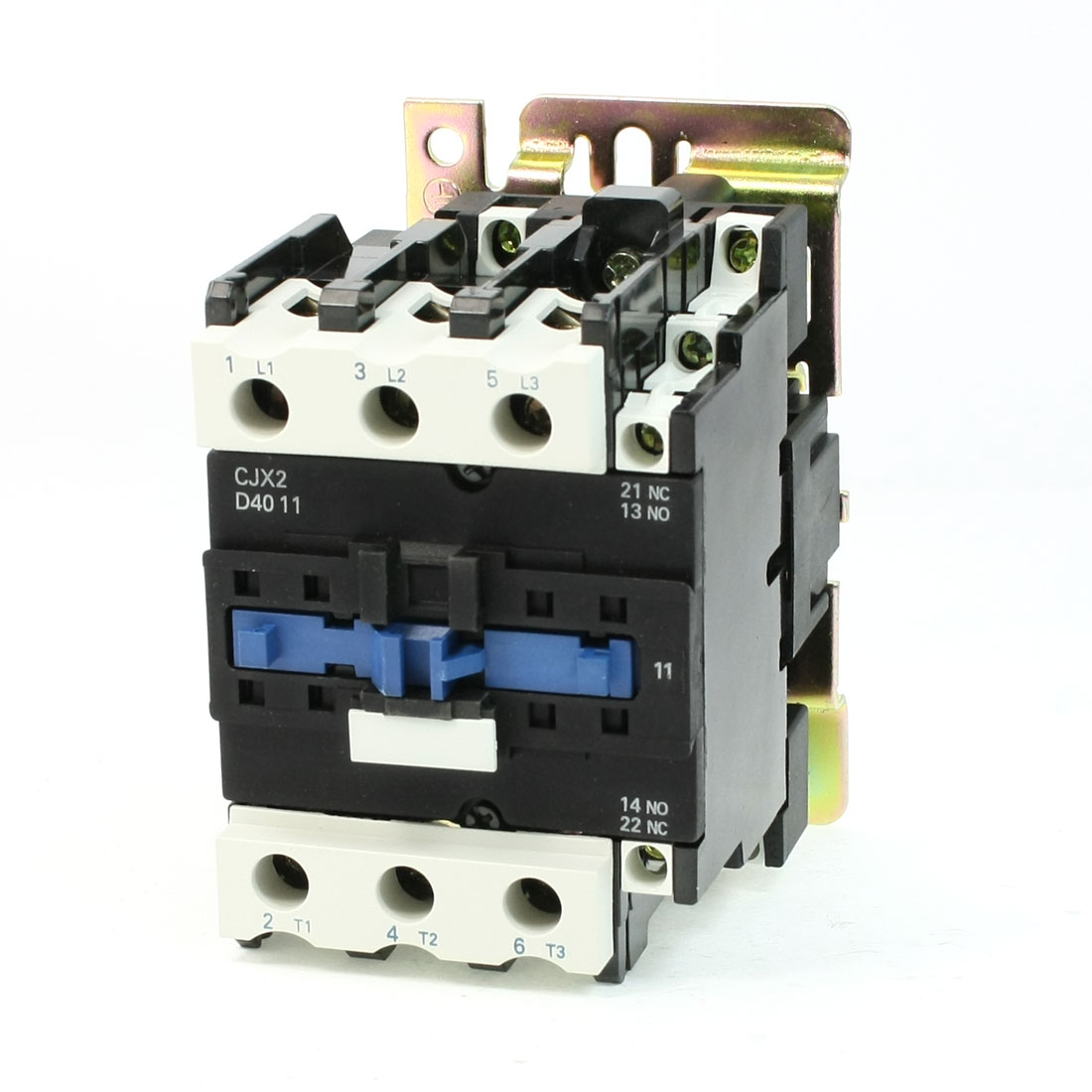 CJX2-4011 DIN Rail Mount AC Contactor 3 Pole One NO 24V Coil 60A