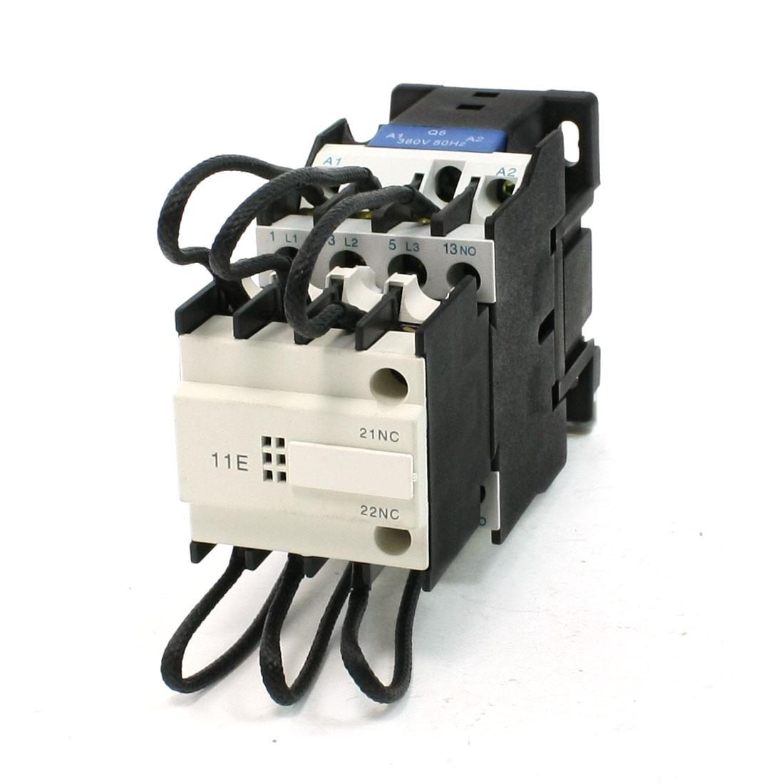 380V 50Hz Coil 3 Pole 1 NO 1NC Switch-Over Capacitor Contactor 380V 26 Amp