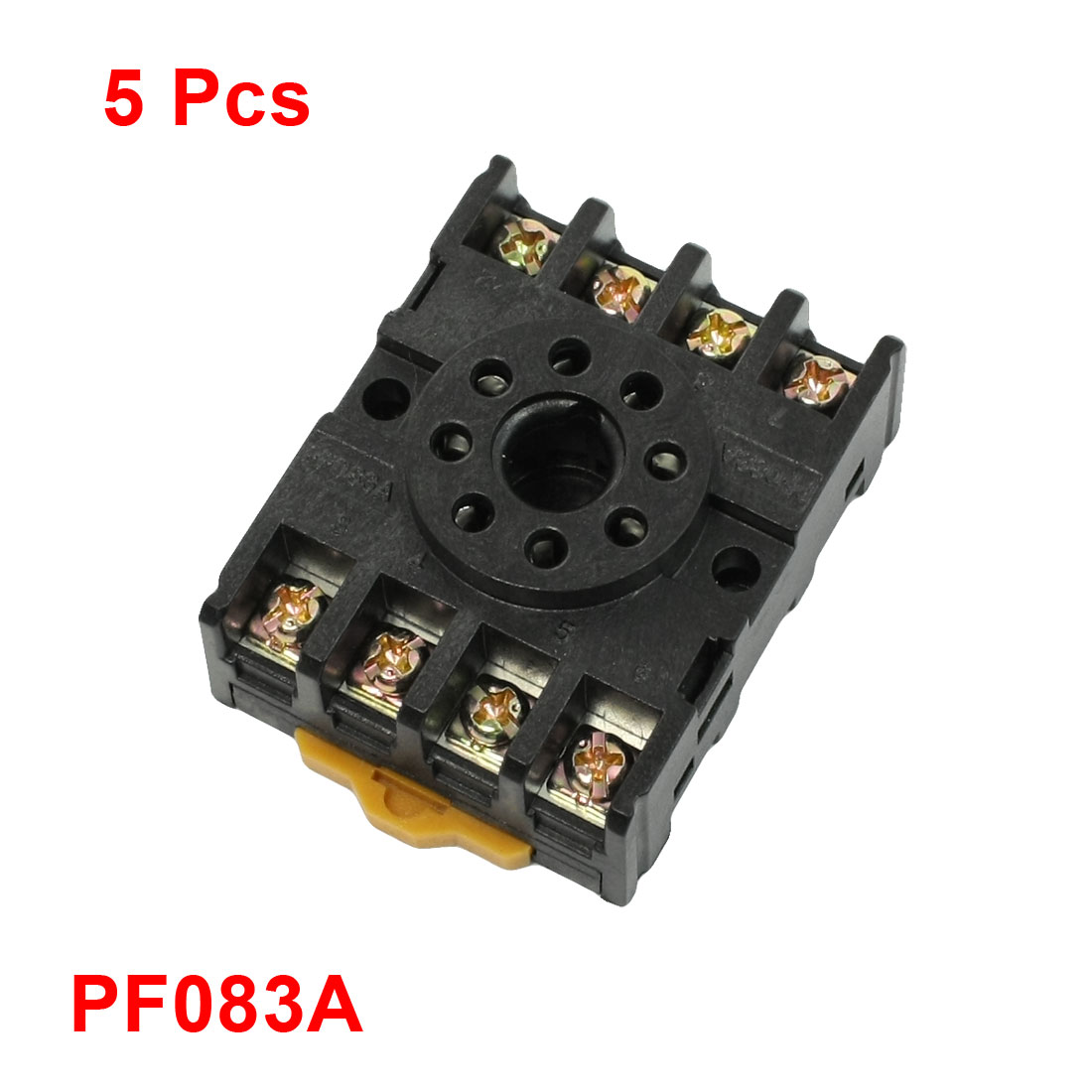 5 Pcs PF083A 8 Pins Time Relay Base Socket for DH48S MK2P